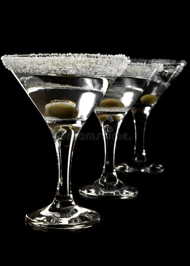 Gläser von Martini lizenzfreie stockbilder