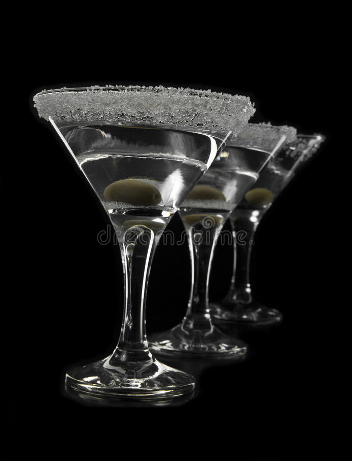 Gläser von Martini stockfotografie