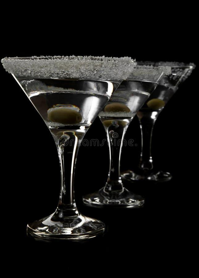 Gläser von Martini lizenzfreie stockfotos
