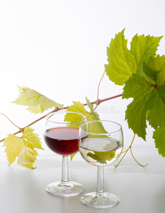 Gläser Wein lizenzfreies stockbild