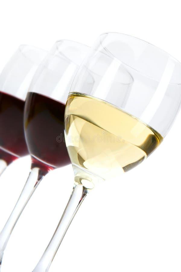 Gläser Wein lizenzfreie stockfotografie