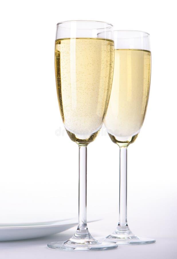 Gläser Wein stockfotografie