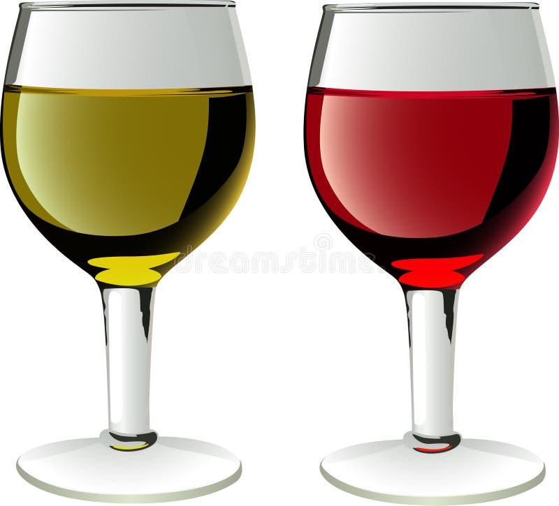 Gläser Weine lizenzfreie abbildung