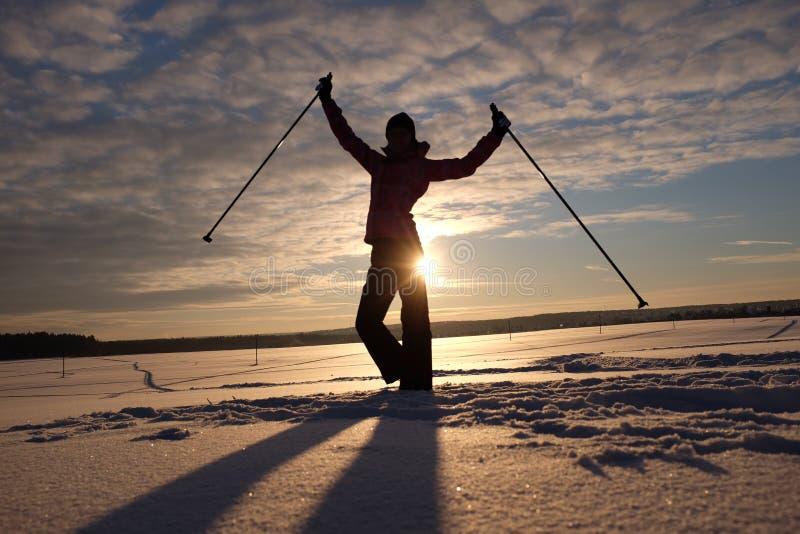 Glättung des traing Skis lizenzfreie stockfotos