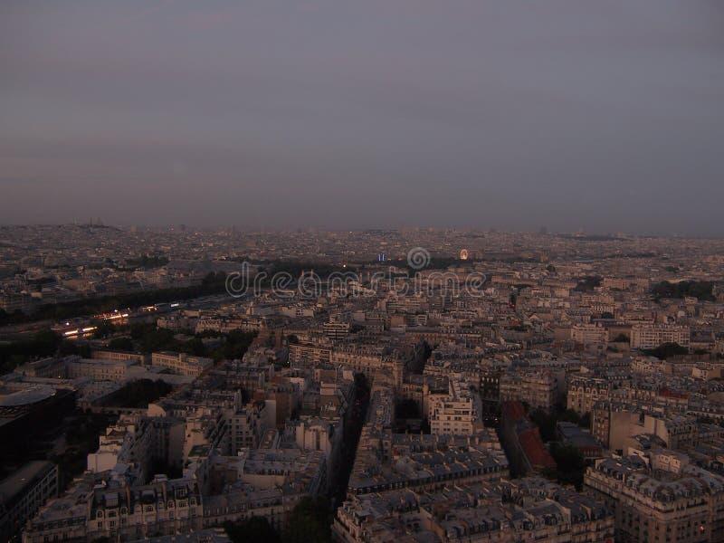 Glättung von Paris-Ansicht vom Eiffelturm stockfotos