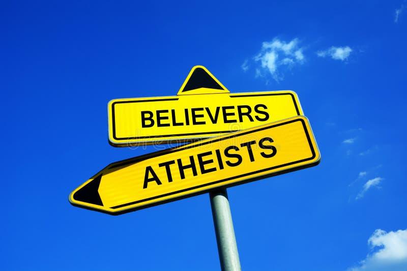 Gläubiger oder Atheisten lizenzfreie stockfotografie