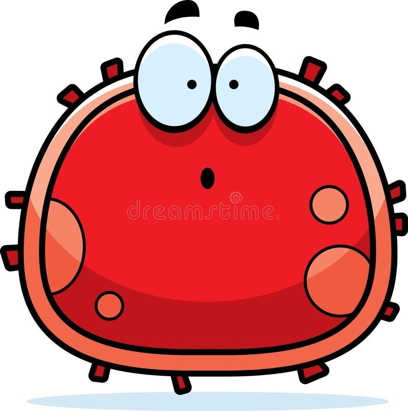 Glóbulo rojo sorprendido stock de ilustración