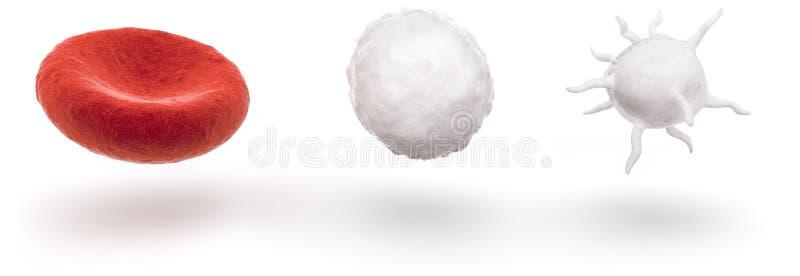 Glóbulos aislados en blanco ilustración del vector