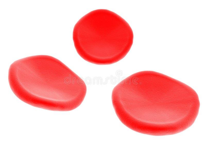 Glóbulos rojos en el fondo blanco 3d rinden libre illustration