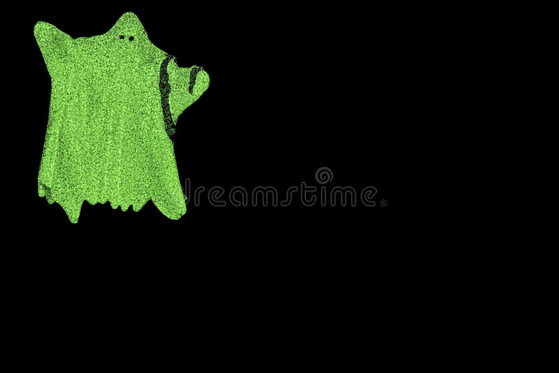 Glöd-i--mörker spöke royaltyfri bild