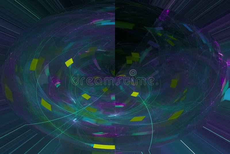 Glöda framföra färgstänk för design för explosion för fantasi för makt för färgstänk för bakgrund för textur för kosmosvetenskaps royaltyfri illustrationer