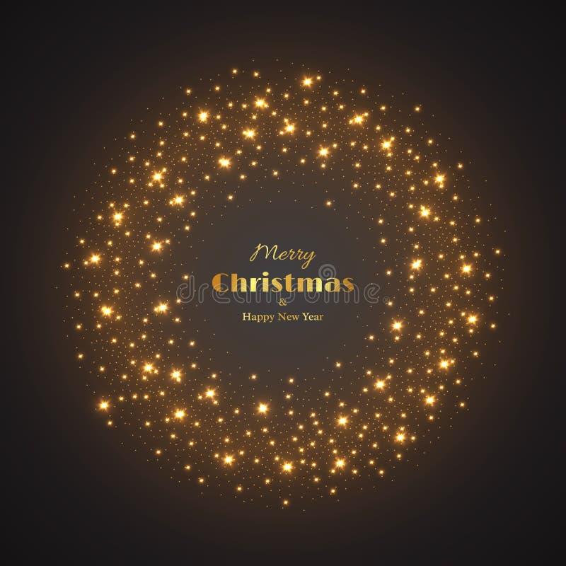 Glödande bakgrund för jul stock illustrationer