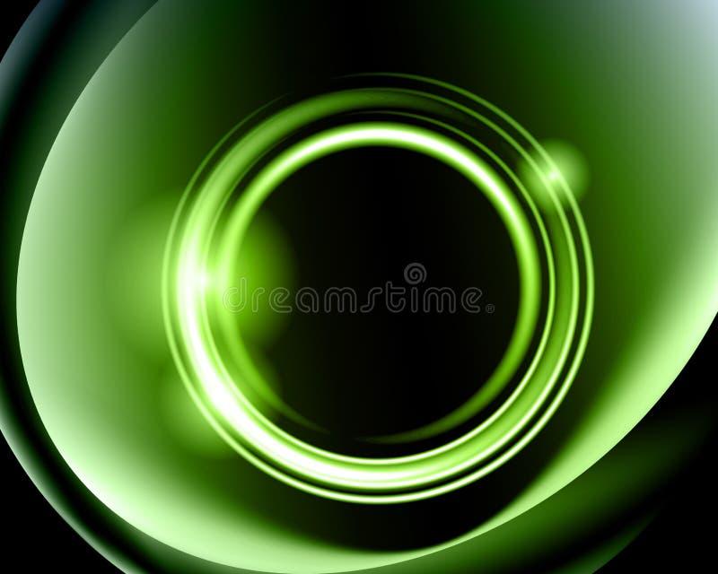 Glödande cirklar för abstrakt bakgrund stock illustrationer