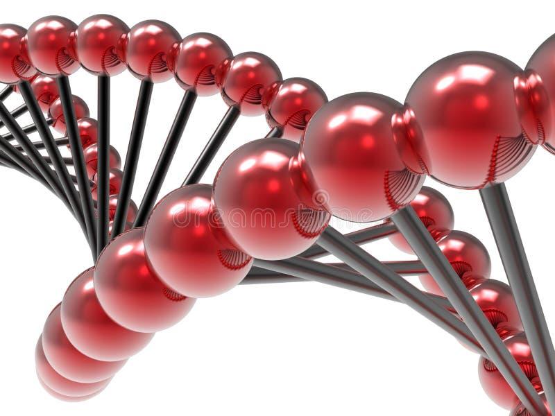 Glödande DNAsfärer stock illustrationer