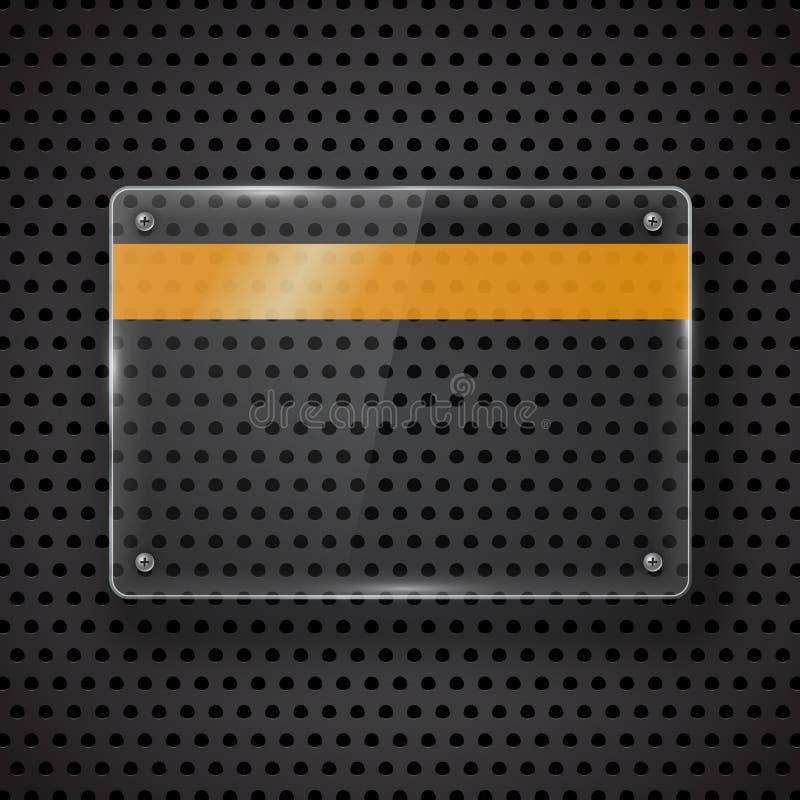 Glödande exponeringsglaspanelplatta vektor illustrationer