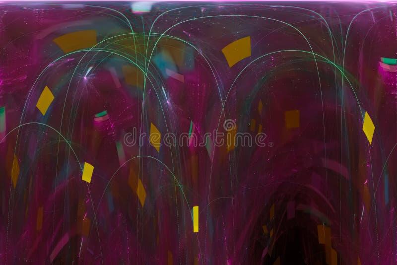 Glödande färgstänk för design för explosion för fantasi för makt för färgstänk för bakgrund för textur för kosmosvetenskapsstil,  vektor illustrationer
