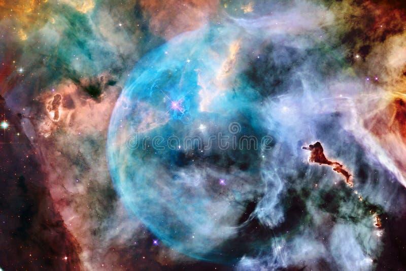 Glödande galax, enorm sciencetapet royaltyfri fotografi