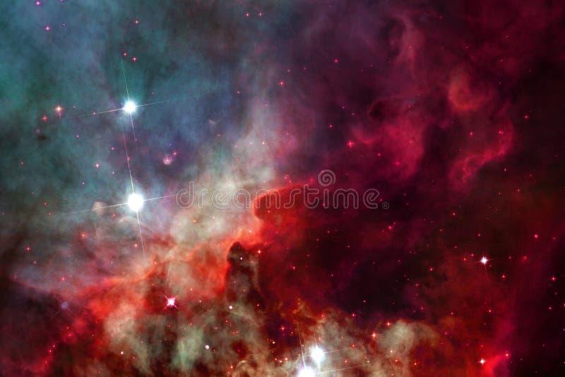 Glödande galax, enorm sciencetapet royaltyfria bilder