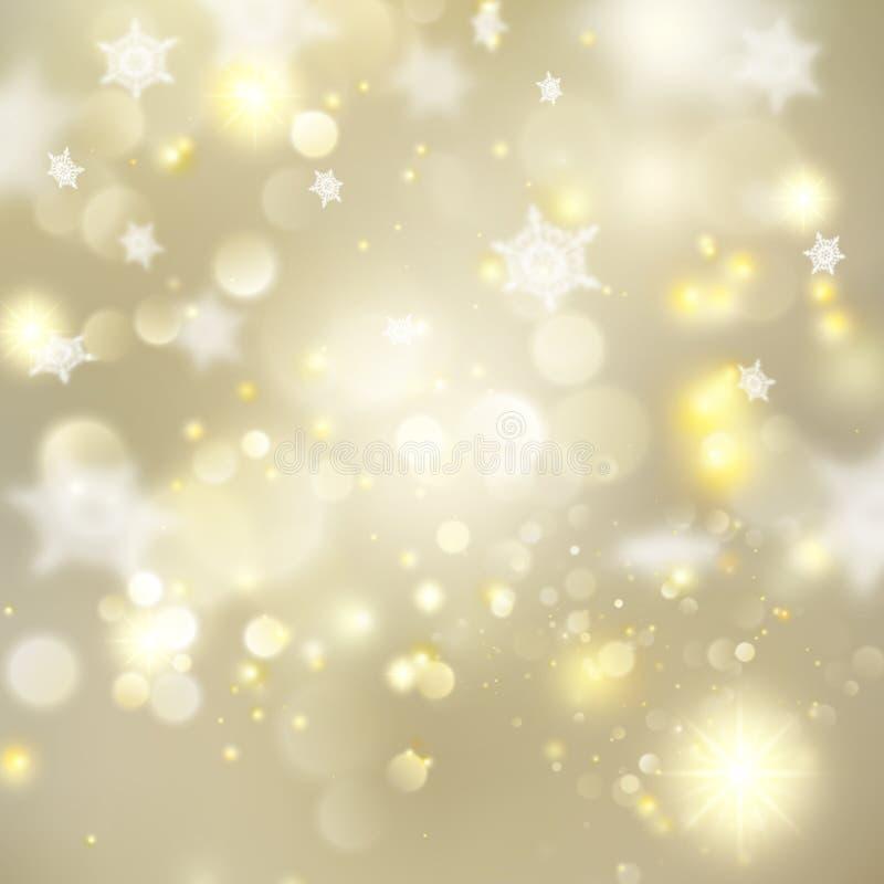 Glödande guld- mall för jul Vektor för EPS 10 royaltyfri illustrationer