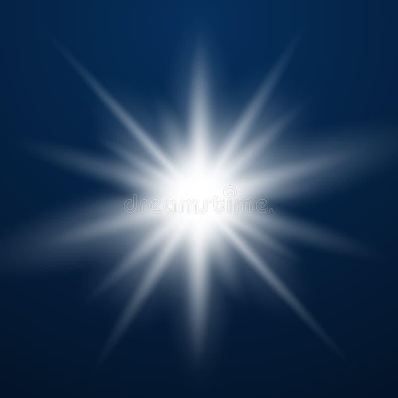 glödande lampa för effekt royaltyfri illustrationer