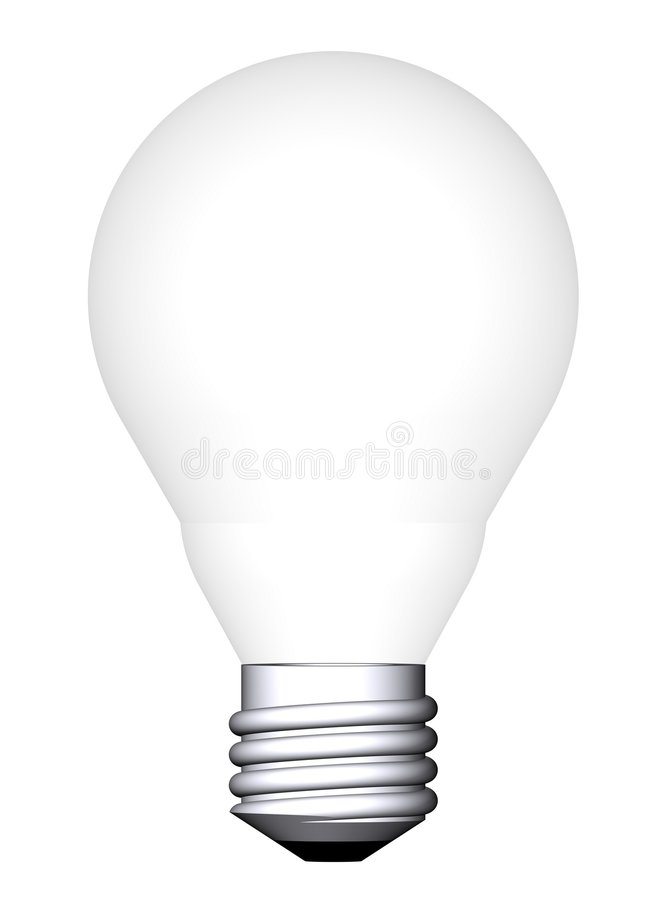 glödande lightbulb stock illustrationer