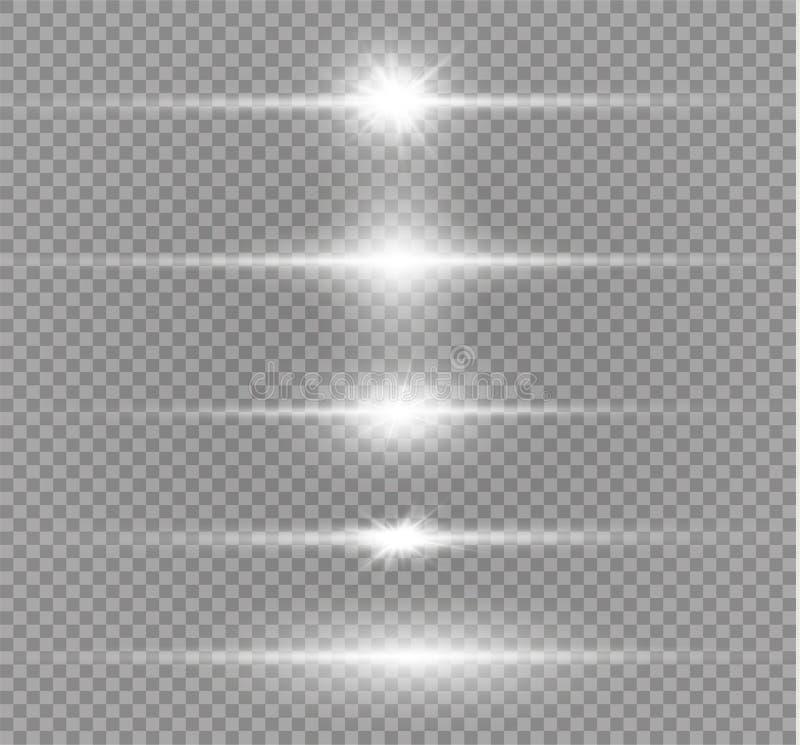 Glödande ljus för vit vektor illustrationer