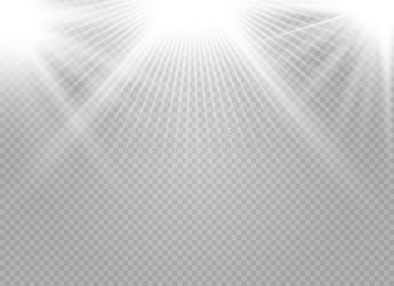Glödande ljus för vit stock illustrationer