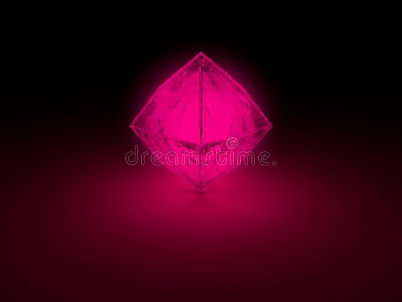 Glödande prisma vektor illustrationer