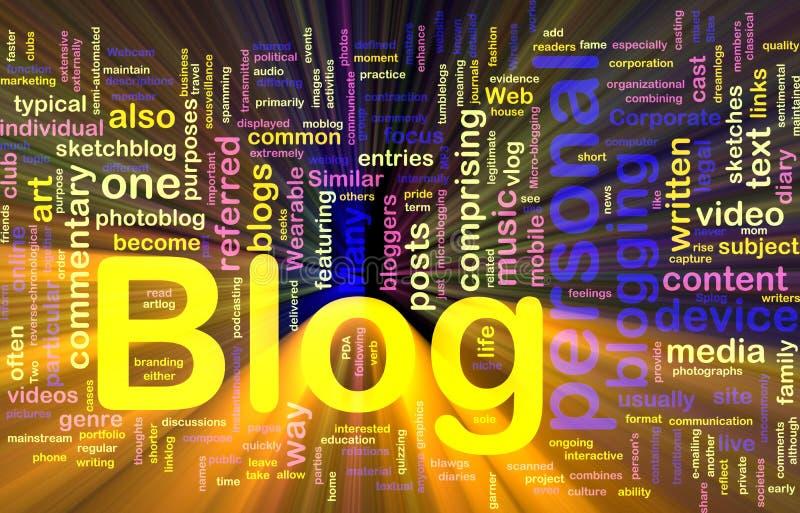 glödande rengöringsduk för bakgrundsblogbegrepp vektor illustrationer