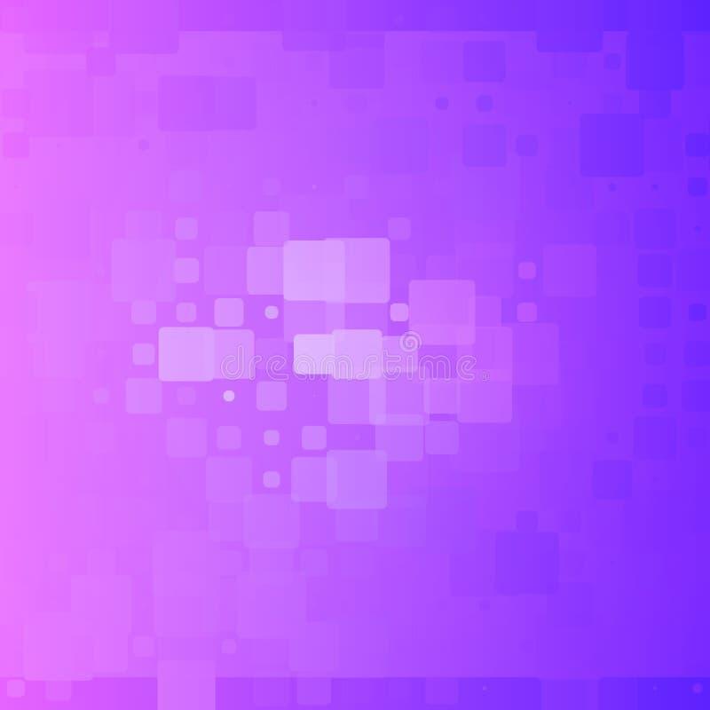 Glödande rundad tegelplattabakgrund för blå purpurfärgad lutning royaltyfri illustrationer