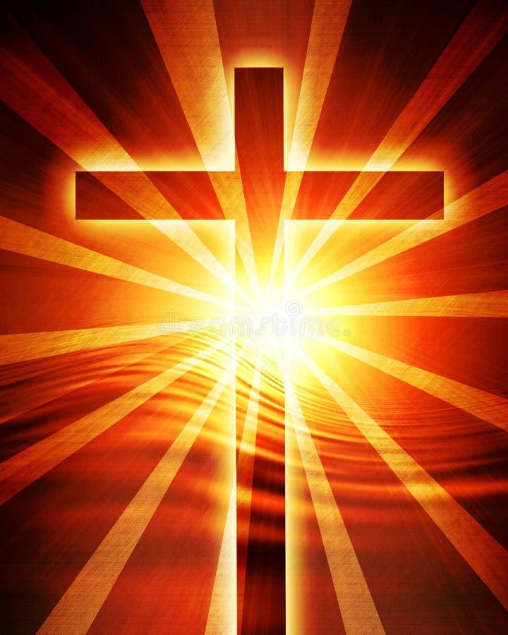 Glödande solnedgång royaltyfri illustrationer