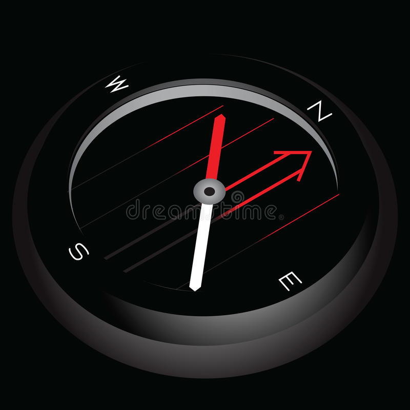 Glödande turist- kompass vektor illustrationer