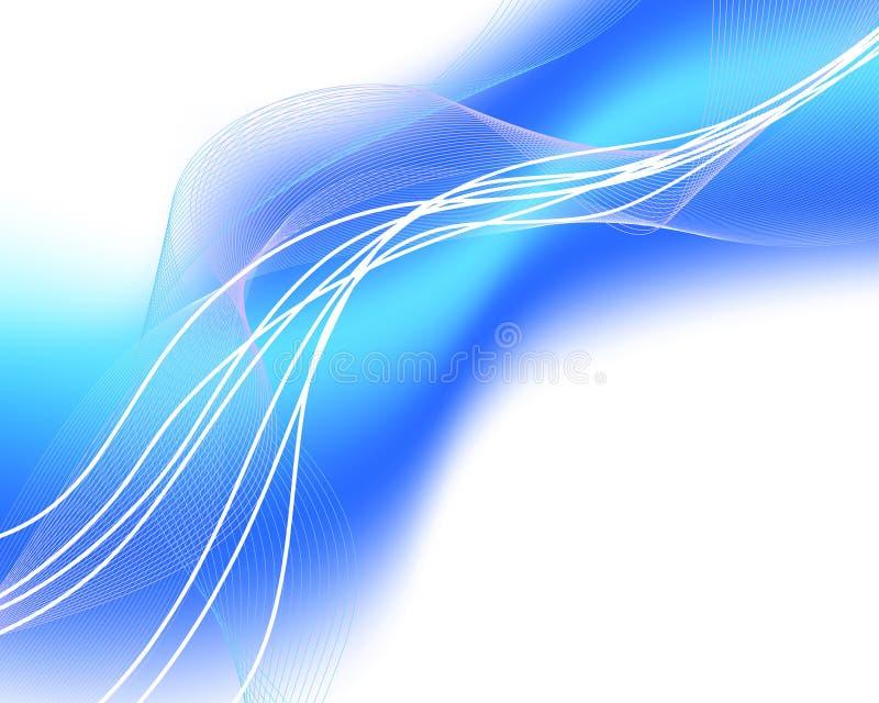 glödande vattenwaves vektor illustrationer