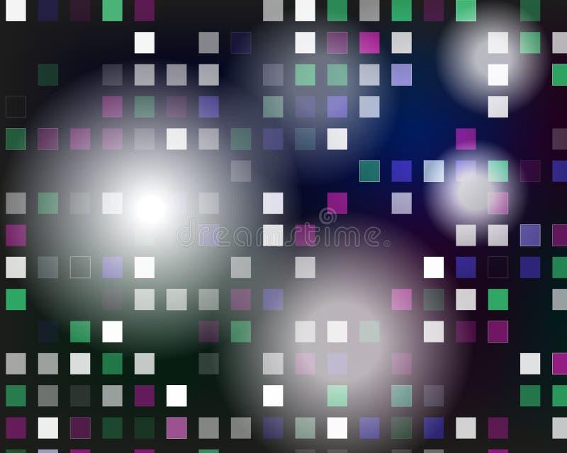Glödande vektordiskobakgrund Mosaik med ljusa reflexioner royaltyfri illustrationer