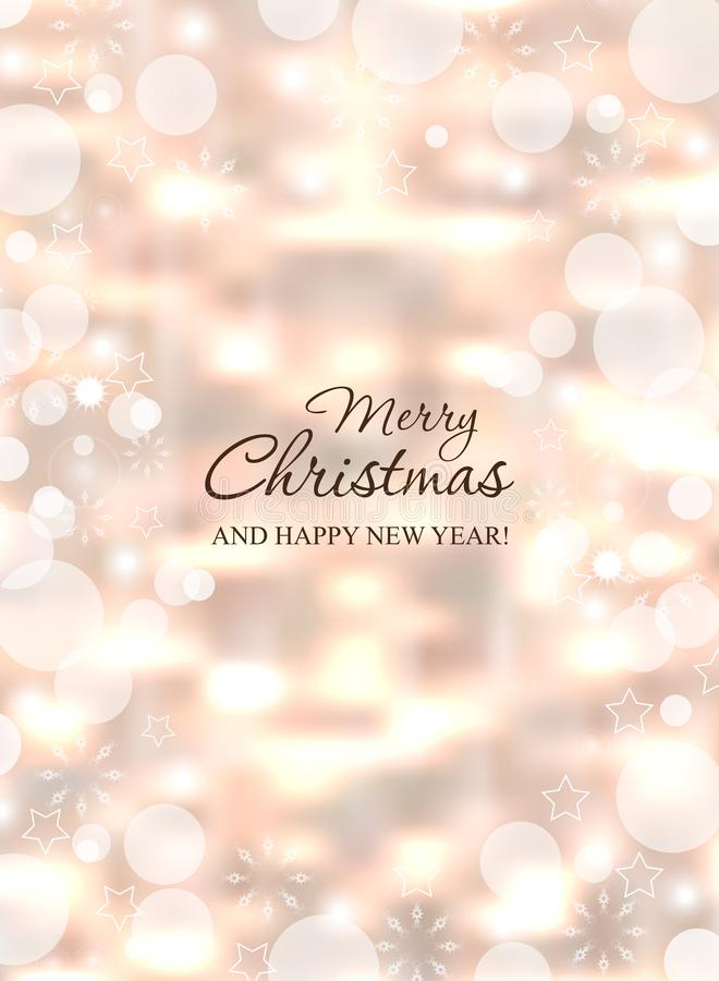 Glödande vertikal bakgrund för jul Blänker abstrakt begrepp för det nya året för ferie Bokeh för dekorativ textur för vinter sudd vektor illustrationer