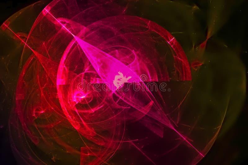 Glödande vibrerande kosmoskaos gristrar färgstänk för designen för explosionen för fantasin för explosionen för galaxnebulosaljus vektor illustrationer
