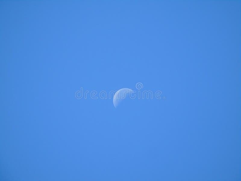 Glödande vit måne arkivfoton