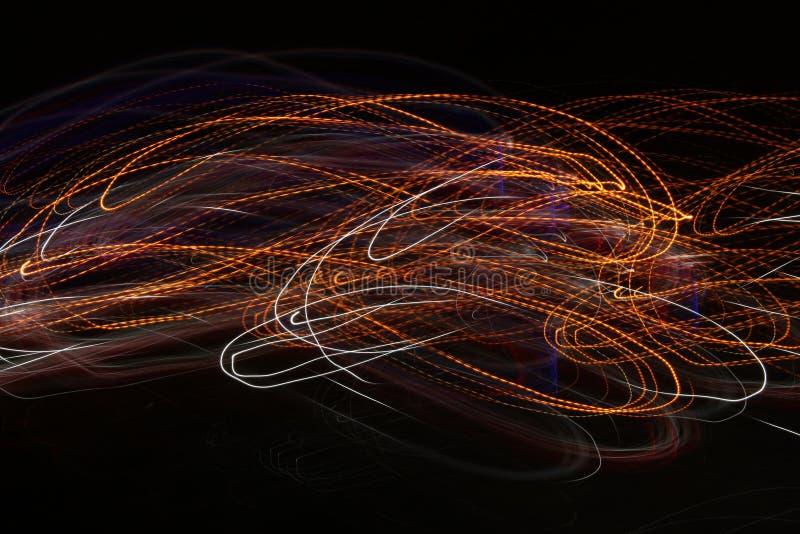 Glödenergivåg Bakgrund för abstrakt begrepp för belysningeffekt arkivfoton