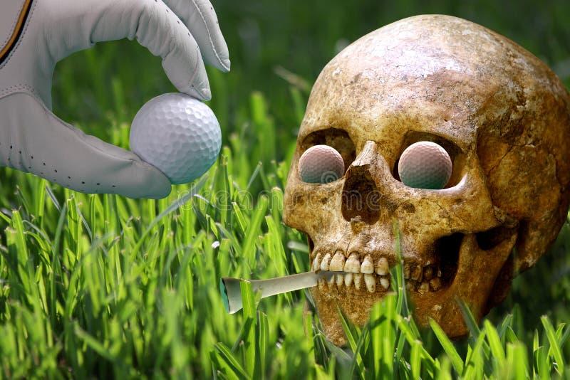 glömd golf för caddy kurs arkivbilder