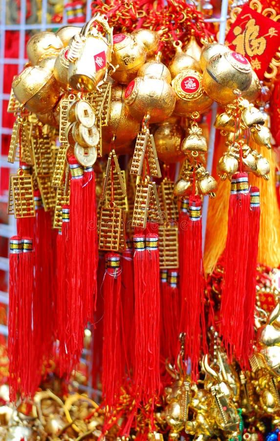 Glück im chinesischen neuen Jahr bei Chinatown lizenzfreies stockbild