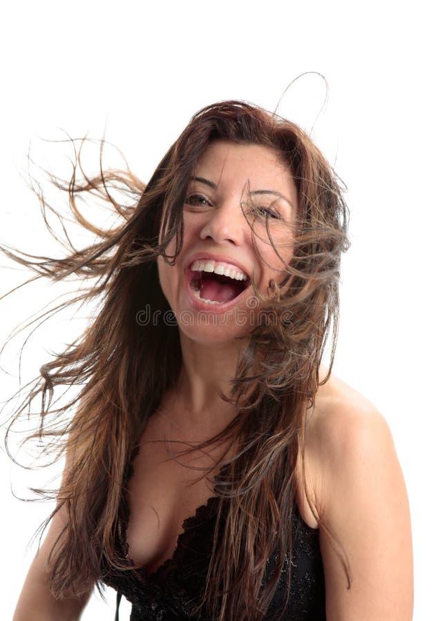 Glück-Schönheits-Vitalität-Spaß stockfotografie