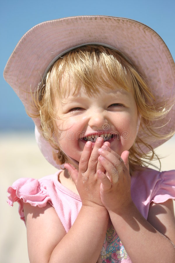 Glück am Strand stockfoto