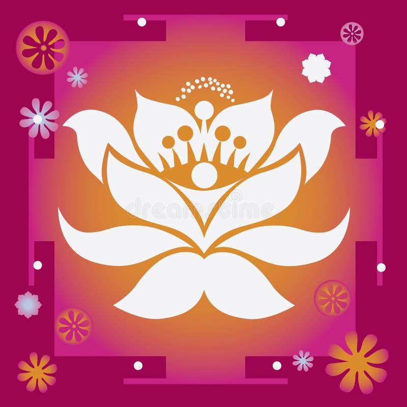 Glück- und Wohlstandsfrühlingsblume heilendes yantra lizenzfreie abbildung