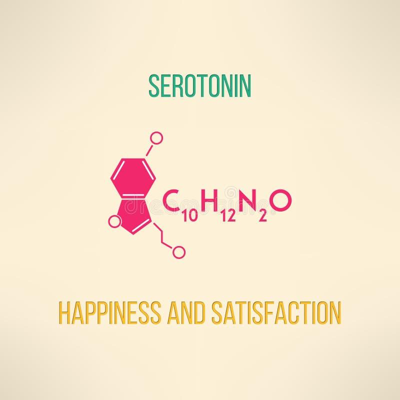Glück- und Zufriedenheits-Chemiekonzept lizenzfreie abbildung