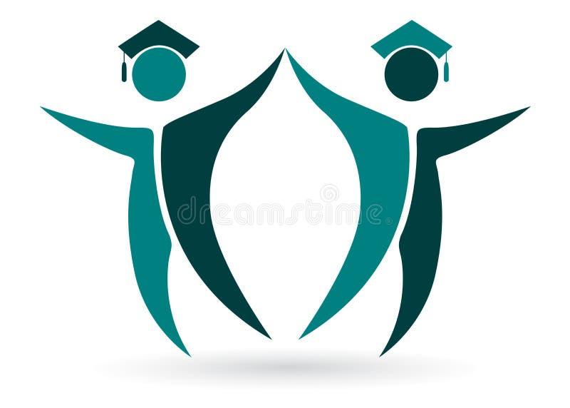 Glückliche Absolvent stock abbildung