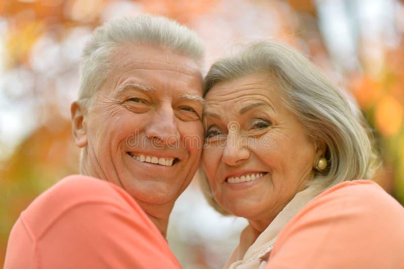 Glückliche alte Leute stockfotografie