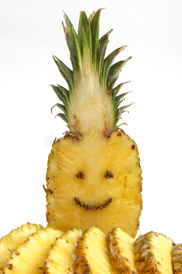 Glückliche Ananas stockfoto