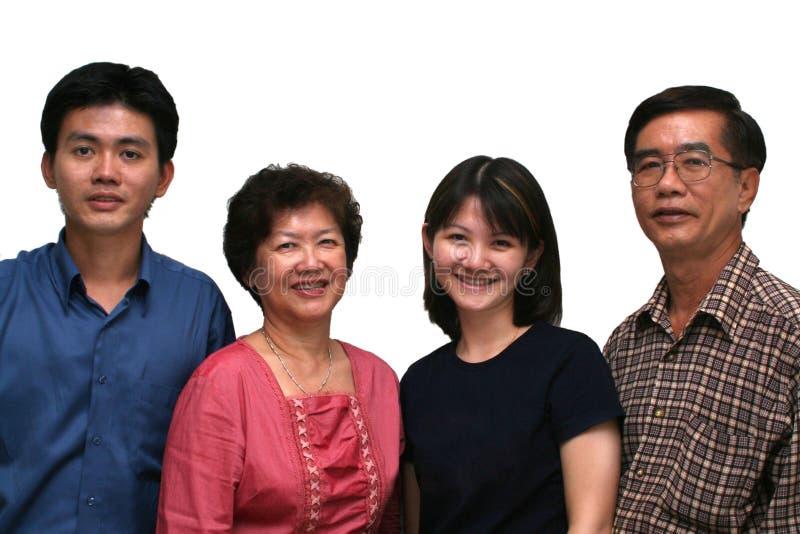 Glückliche asiatische Familie stockfotografie