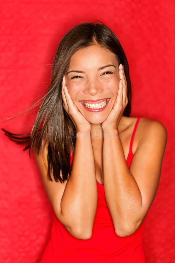 Glückliche asiatische Frau stockfotografie