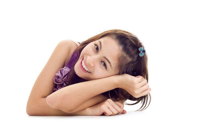 Glückliche asiatische Schönheit lizenzfreie stockfotos